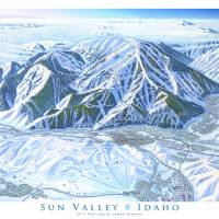 """Sun Valley resort"" by jamesniehuesmaps"
