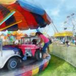 """Car Ride at the Fair"" by susansartgallery"