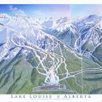 """Lake Louise, Front"" by jamesniehuesmaps"