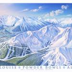"""Lake Louise, Snow Bowls"" by jamesniehuesmaps"
