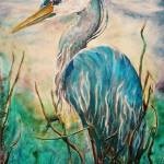 """Blue Heron"" by marylynanne"