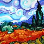 """Van Goghs Wheat Fields & Cypress"" by Genevieva"