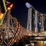 """Helix Bridge, Marina Bay Sands, Singapore"" by sghomedeco"