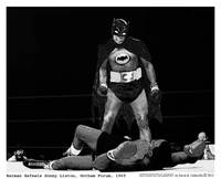 Batman Defeats Liston 1965 (B&W))