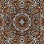 """Radial Wheat Abstract Tile 30 Framed"" by bloomingvinedesign"