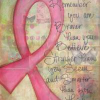 Always Remember (Cancer Ribbon) Art Prints & Posters by Tracy Glover