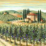 """Tuscan Vineyard and Villa"" by marilyndunlap"