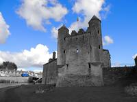 Enniskillen Castle Blue Color Isolation