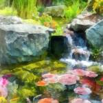 """Koi Pond"" by susansartgallery"