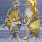 """Sauna Cats"" by johnlund"