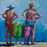 """Gram and Mom at the Beach"" by BCArt"
