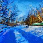 """Painting with snow"" by DiNovici"
