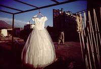 a wedding dress