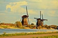 windmills at kinderdijk netherlands