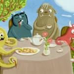 """Monster Tea Party"" by GinaPerry"