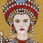 """""Empress Theodora""  fabric mosaic"" by RemnantWorks"