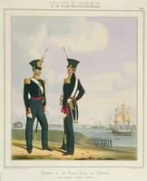 Royal Marine Artillery Officers, plate 8 from 'Cos