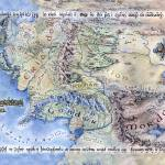 """Ennorath- Map of Middle Earth"" by tomasz_kowal"