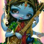 """Saraswati Playing Veena"" by strangeling"