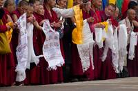 Monks Waiting for the Dalai Lama