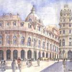 """Piazza De Ferrari a Genova"" by lucamassonedisegni"