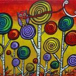 """Owl Lassos Moon"" by juliryan"