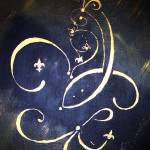 """Abstract Fleur de Lis Saints Inspiration"" by ARTistic_Anne"