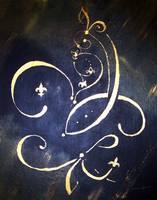 Abstract Fleur de Lis Saints Inspiration