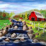 """The red Barn"" by ARTistic_Anne"