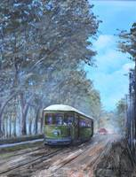 NEW ORLEANS STREET  CAR KIP HAYES SOUTHERN ART