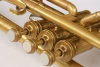 Vintage Brass Trumpet Valves and Tubes