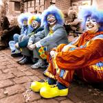"""Clowns on the street"" by lucapinello"