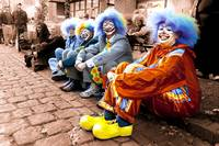 Clowns on the street