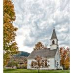 """Shelburne Village Church"" by aknbean"