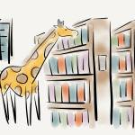 """Giraffe librarian"" by pauldunford"