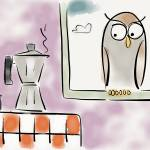 """Victor and the coffee pot"" by pauldunford"
