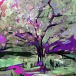 """Abstract Art Tree in Bloom by Ginette"" by GinetteCallaway"