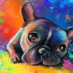 """Whimsical French Bulldog painting print"" by SvetlanaNovikova"