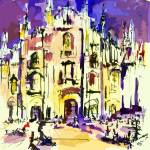 """Milan Italy Cathedral Abstract Art by Ginette"" by GinetteCallaway"