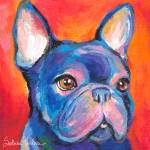 """""""French Bulldog portrait print"""" by SvetlanaNovikova"""