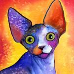"""""""Sphynx Cat 3 painting print"""" by SvetlanaNovikova"""