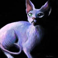 Dramatic Sphynx Cat art print