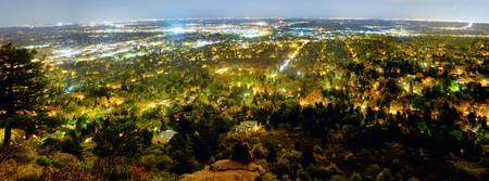 Boulder Colorado City Lights Panorama