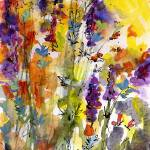 """Summer Lavender Watercolor Painting"" by GinetteCallaway"