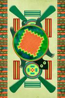 Native American Folk Art Turtle 3D Motif