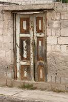 Old Door with Peeling Paint