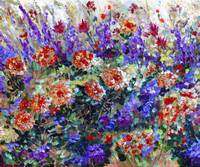 Bed Of Flowers Impressionist Painting