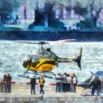 """Manhattan Heliport"" by susansartgallery"
