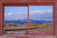 Colorado Country Red Barn Picture Window View