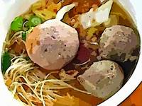Noddle and Meat Ball